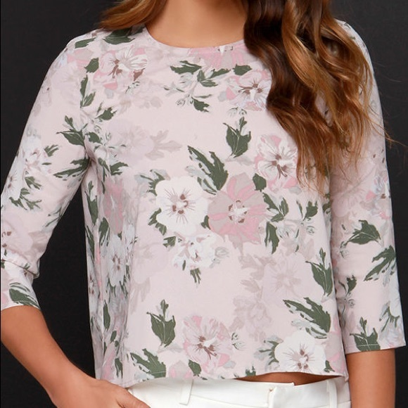 BB DAKOTA • Parisa Blush Floral Blouse